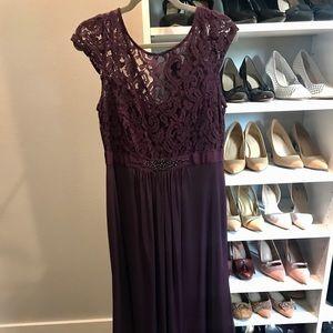 Eggplant Evening Dress/Gown